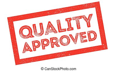 Quality Approved rubber stamp on white. Print, impress,...