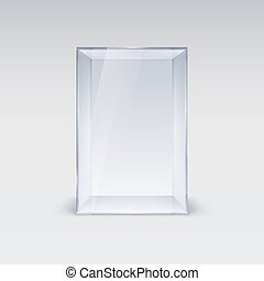 Glass Showcase - Empty Glass Showcase. Illustration on White...