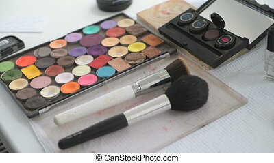 Multicolor cosmetic palette for make-up and different...