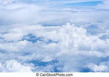 Cloud and blue sky on bright day