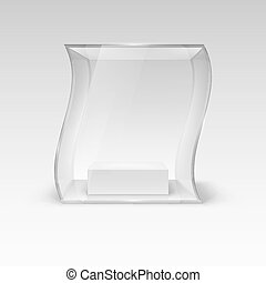 Glass Showcase in Wave Form for Presentation