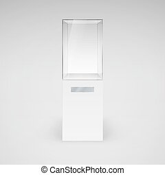 Glass Showcase - Empty Glass Showcase for Presentation on...