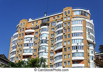 Modern many-storied residential building in Odessa, Ukraine