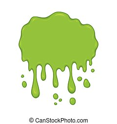 Vector illustration - green slime drips - Vector...