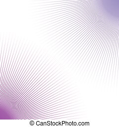 Duotone abstract geometric backdrop with radial thin lines...