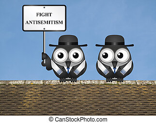 Antisemitism message - Fight antisemitism message with...