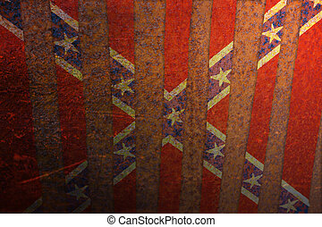 Textured confederate flag background