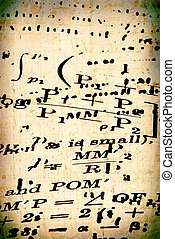 Mathematics - Close up of old mathematics book