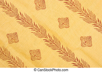 Floral pattern on silk fabric as a background