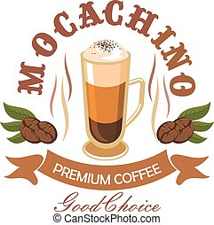 Coffee drink badge for cafe design - Premium coffee drink...