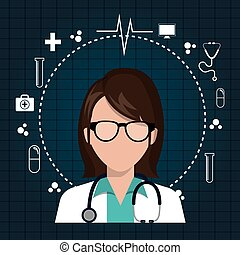 avatar medical doctor - avatar woman medical doctor with...