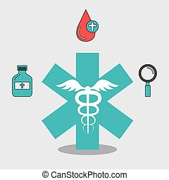 medical symbol icon - medical symbol and medicine icon set...
