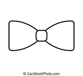 elegant cute bowtie icon vector illustration design