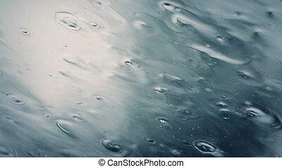 Heavy Rain On Skylight