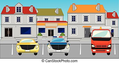 City and parking the cars