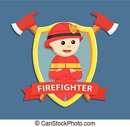 firefighter in emblem