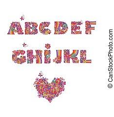 Hippie alphabet. Part1