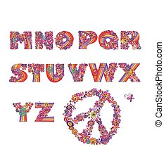 Hippie alphabet. Part2