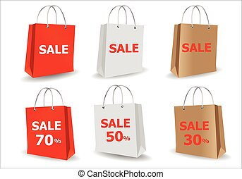 paper bags - Vector illustration; Template Pack paper bags...