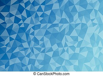 Polygon Abstract, Blue triangle Background. Vector...