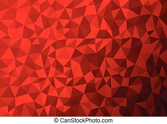 Polygon Abstract, Red triangle Background. Vector...