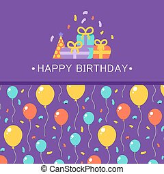 Happy Birthday card. Vector background concept