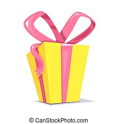 Gift box, vector illustration