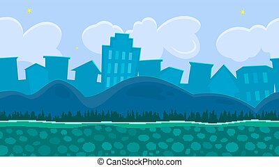 Seamless background for game, vector illustration - Seamless...