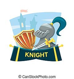 Knight concept design, vector illustration
