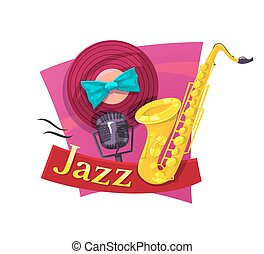 Jazz vector illustration - The musical style of jazz,...
