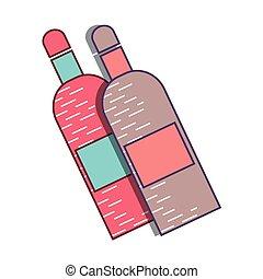 liquor bottles design - liquor bottles pink and blue over...