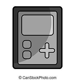 portable video game device over white background. vector...