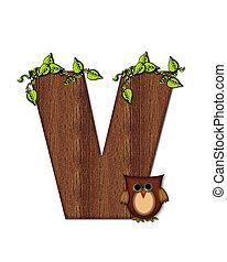 Alphabet Woodsy Owl V