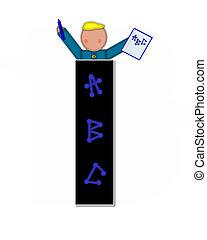 Alphabet Children ABCs I - The letter I, in alphabet set...
