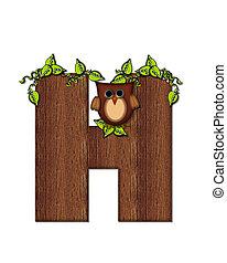 Alphabet Woodsy Owl H