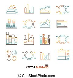 Infographic Set Element Outline. Vector