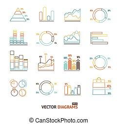Infographic Set Element Outline. Vector