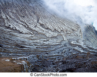 kawah ijen volcano nature background