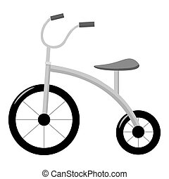 Tricycle icon in monochrome style isolated on white background. Play garden symbol stock vector illustration.