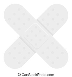 Adhesive plaster icon monochrome. Single medicine icon from...