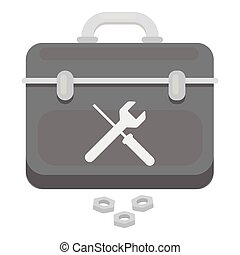 Toolbox icon in monochrome style isolated on white...