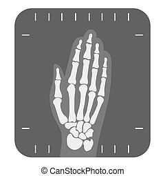 X-ray hand icon monochrome. Single medicine icon from the...