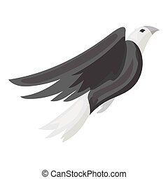 American eagle icon in monochrome style isolated on white background. Patriot day symbol stock vector illustration.
