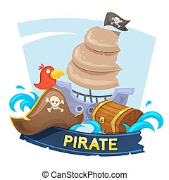 Pirate concept design, vector illustration