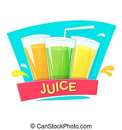 Juice concept design, vector illlustration - Juice concept...