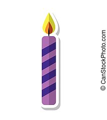 candle flame birthday isolated icon vector illustration...