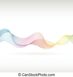 Abstract rainbow smoke 2 - An abstract rainbow smoke design