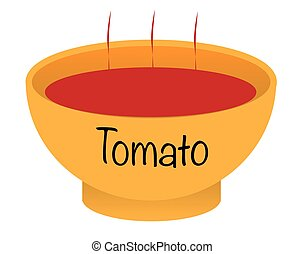 Tomato Soup Bowl - A tomato soup bowl over a white...
