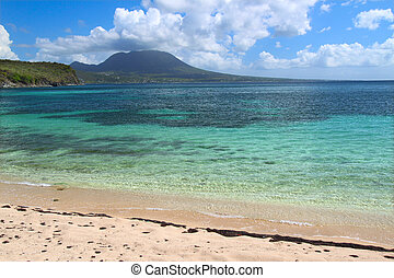 Beautiful beach on Saint Kitts - Tranquil beach and crystal...