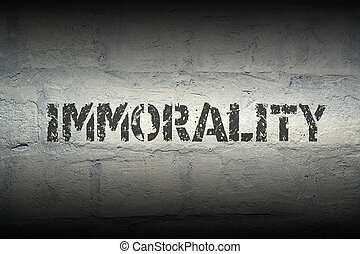 immorality WORD GR - immorality stencil print on the grunge...